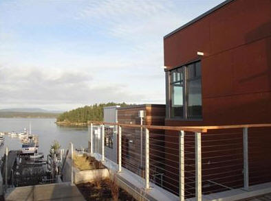 A condominium overlooking Friday harbor for sale on San Juan Island.