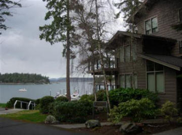Just one of the many waterfront condominiums near Roche Harbor.